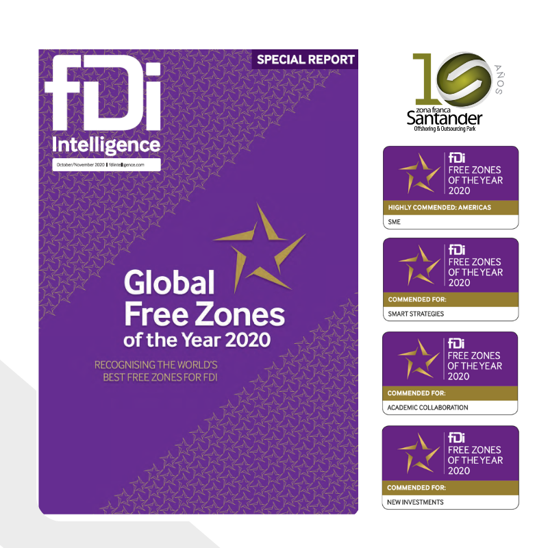 Zona Franca Santander galardona por sexto año consecutivo en The Global Free Zone of the Year 2020 - fDi