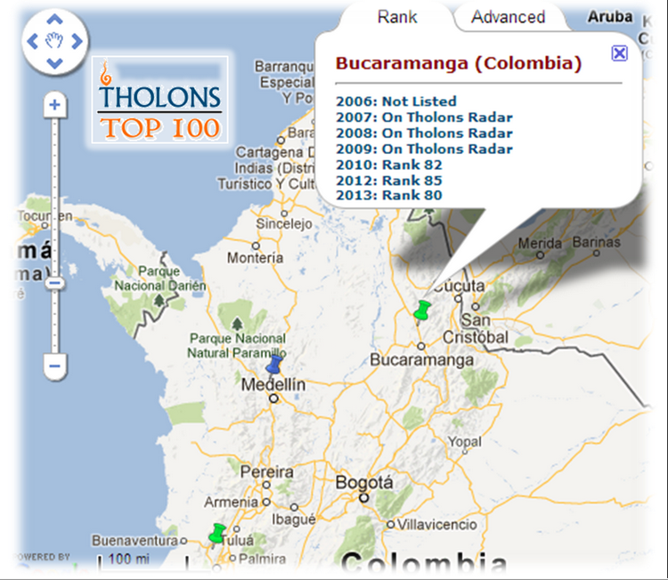 "Bucaramanga escala cinco posiciones en el ""Top 100 Outsourcing Cities for 2013"""
