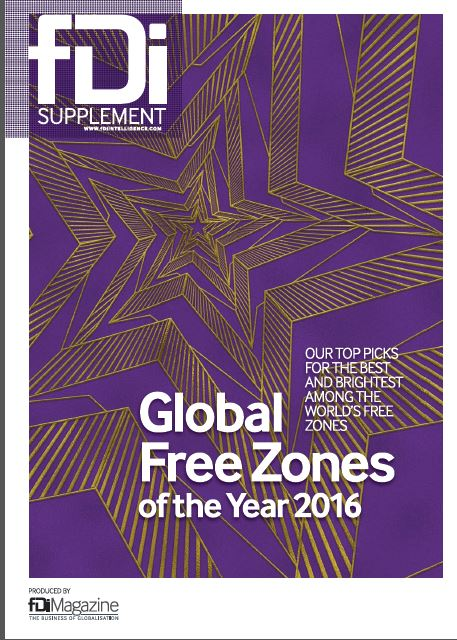 "Zona Franca Santander is ""The Best Free Zone of Latin America and Caribbean 2016"": fDi Magazine- Financial Times."